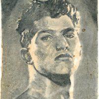 """graphite, oil on parchment paper, 24"""" X 19"""""""